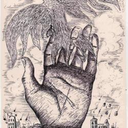 """""""La main lâchant l'oiseau"""" Louis Delorme"""