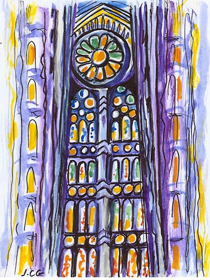 """""""Barcelone La Sagrada Familia"""" Jeanne CHAMPEL GRENIER"""