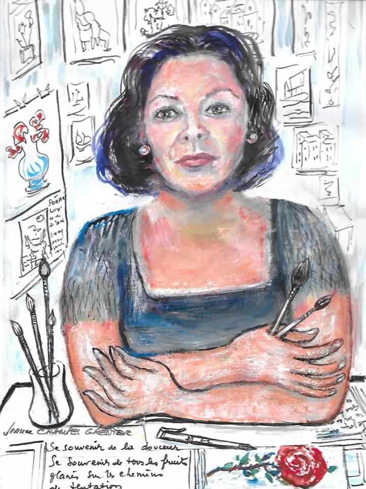 """Autoportrait"" Jeanne CHAMPEL GRENIER"