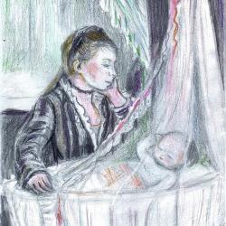 """Le berceau - Inspiration Berthe Morisot"" JCG"