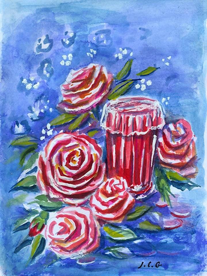 """""""De la rose"""" Jeanne CHAMPEL GRENIER"""