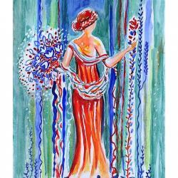 """""""Inspiration Fresque de Pompei"""" Jeanne CHAMPEL GRENIER"""