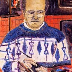 """""""Autoportrait au pull bleu"""" Louis DELORME"""