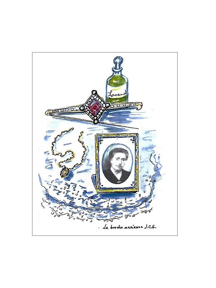 """""""La broche ancienne"""" Jeanne CHAMPEL GRENIER"""
