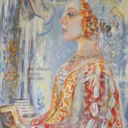 """Mores Animum""  * (Inspiration fresques du quattrocento)"