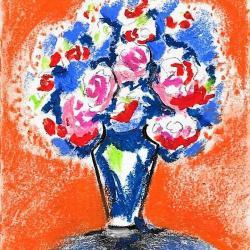 """""""Roses fond orange"""""""