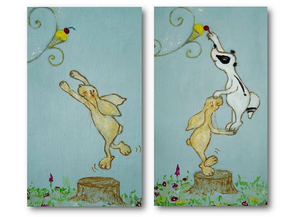 """Petit meuble à lire """"L'arbre a glaces"""" pages 1 et 2 AG"""