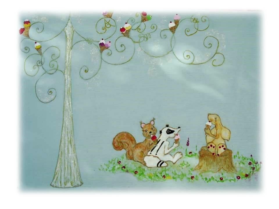 """Petit meuble à lire """"L'arbre a glaces"""" planche 3 AG"""
